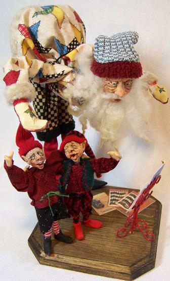 Singing Director Santa Decoration