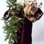 Santa with Maroon Cloak