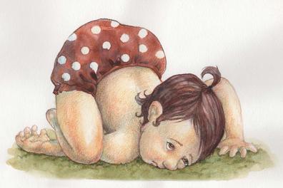 Baby tumbles